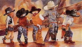 Images of Little Ranch Hands, by Linda Loeschen